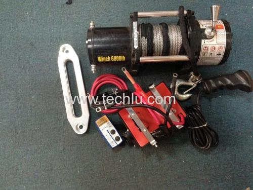 Boat trailer and car winch with remote control 6000LBS