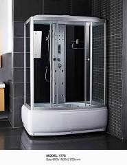 rectangle high tray shower cabin