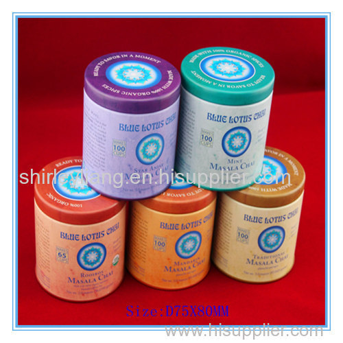 Wholesale Food Grade Round Tea Tin Can