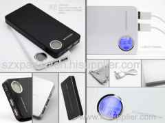 Mobile Power Bank 10000mah For Iphone/Ipad/Ipod/Blackberry