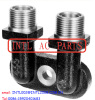 TM Style Zexel A/C compressor Fitting Adapter Vertical O-ring Port/Tube manifold fitting 1 x 14 Vertical