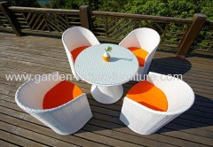 Dining set PE rattan garden dining table and chair