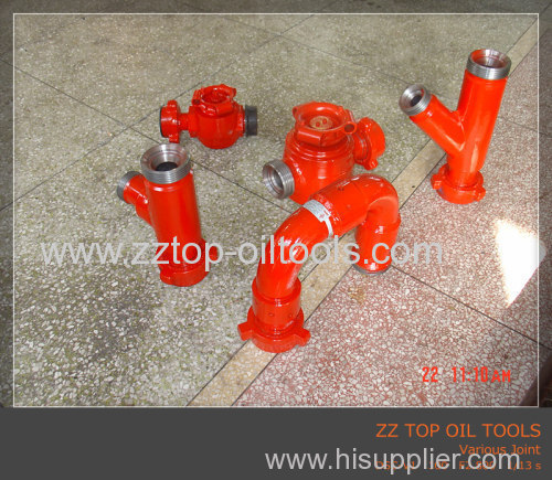 3  FIG1502 Lateral Wye 90 degree for Well head pipe fitting