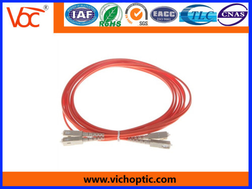 SC to SC/PC 2 core multimode fiber optic patch cord