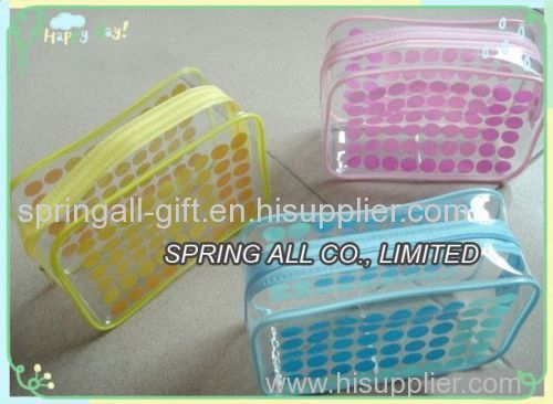 pvc cosmetic bag , pvc zipper bag