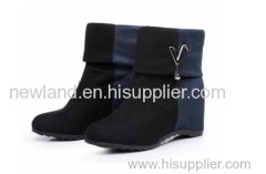2013 splicing PU lady boots within increasing height