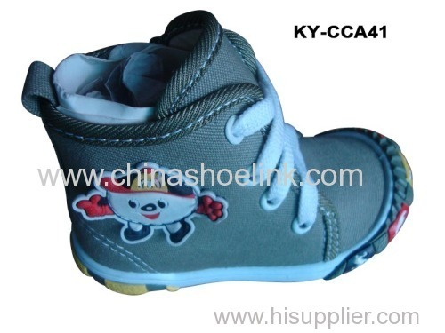 Mid cut children Canvas shoes with injection sole (KY-CCA 041)