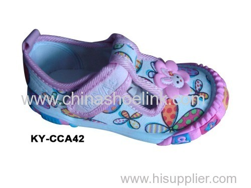 Children Canvas shoes with injection sole (KY-CCA 042)