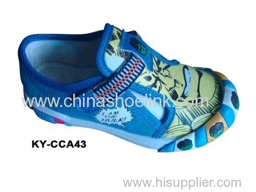 Children Canvas shoes with injection sole (KY-CCA 043)