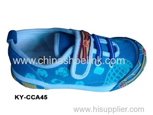 Children Canvas shoes with injection sole (KY-CCA 045)