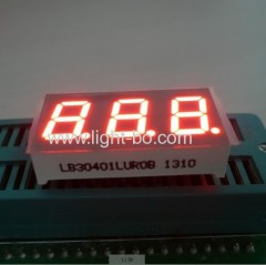 "Ultra Red 0.4"" 3-Digit 7-Segment LED Dispplay for instrument Panel, Common Cathode"