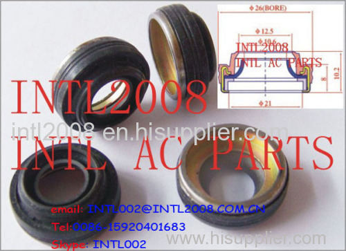 automotive air conditioning/CONDITION compressor Lip Seal DKS17VS auto A/C CAR ac COMPRESSOR SHAFT LIP SEAL