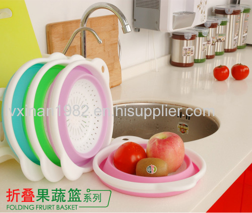 Collapsible basket PP TPR material fruit baskets storage basket tray
