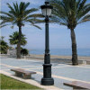 4.15m cast iron lamp pole for outdoor courtyard seaside