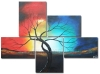 100% Hand-painted Modern Canvas Art Oil Painting Home Decoration (LA5-084)