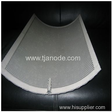 Treatment using customized pt coated titanium anode