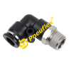 PL Male Elbow NPT Thread Pneumatic Fitting