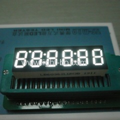 "Ultra Bright White 6-digit 0.36"" common cathode 7-Segment LED Display for Instrument Panel"