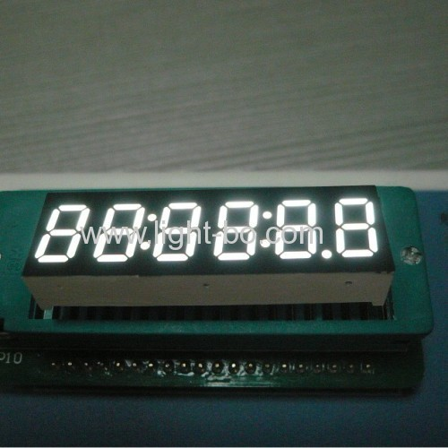 Ultra bright blue 0.36 inch 6 digit common anode seven segment led display