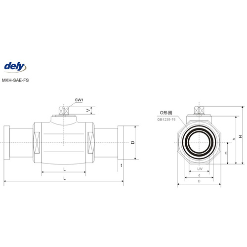 BKH-SAE-FS, MKH-SAE-FS 2 way high pressure ball valve pipe connector