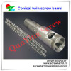 conical twin screw & cylinder for PVC extruder