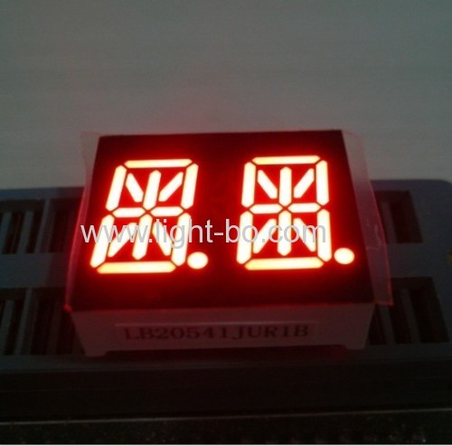 Ultra White 14-segment 0.54-inch dual-digit LED alphanumeric display for Instrumetn Panel
