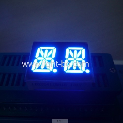 Custom 14.2mm (0.56 ) Triple Digit 14 Segment Alphanumeric LED Display For Instrument Panels