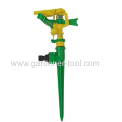 Plastic Impulse Water Sprinkler With Plastic Spike