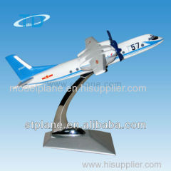 Y-7 resin plane model as airplane gift for airway