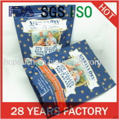 printed stand up foil pet food packaging bag