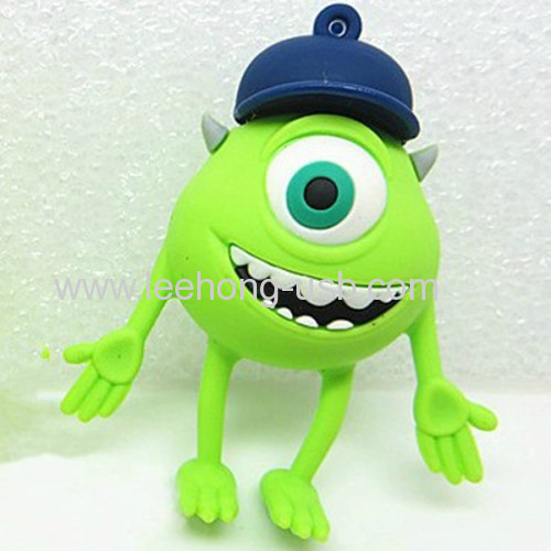 mini usb flash drive pvc monster customized usb drives