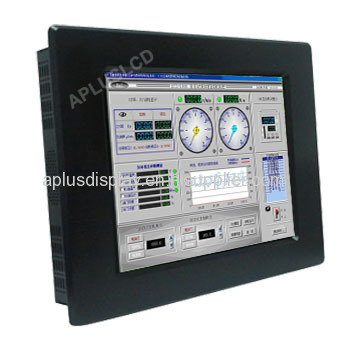 19'' Panel Mount Industrial LCD Monitor with Resistive Touch Screen,VGA,DVI