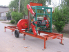 horizontal portable sawmill diesel engine or electromotor