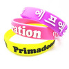 personalized printed silicone bracelet for promotional gift