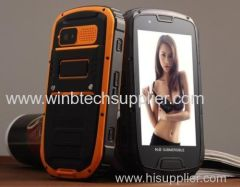 Quad Core Ru-gged Phone S09 With Google 4.3 Inch Android MTK6589 1GB RAM 4GB ROM IP68 Waterproof Dustproof Shockproof