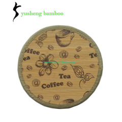 Round Bamboo Placemats in painting and Printing
