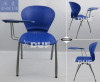 plastic stackable chair removable tablet commercial class room chair book basket