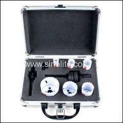 "9pcs Plumber's Hole Saw Kits 5/8"" 25/32"" 1"" 1-1/4"" 1-9/16"" 2""(16-20-25-32-40-51mm)"