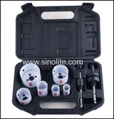 "9pcs Bimetal Plumber's Hole Saw Kits 3/4:7/8"",1-1/8"", 1-1/2"", 1-3/4"", 2-1/4""(19-22-29-38-44-57mm)"