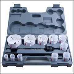 "15pcs Plumber's Hole Saw Kits 3/4"" 7/8"" 1"" 1-1/4"" 1-3/8"" 1-1/2"" 1-3/4"" 2"" 2-1/4"" 2-1/2"" 3"" (19-76mm)"