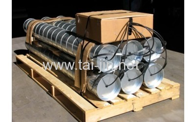 Supply titanium canister anode Galvanized steel Tube with Petroleum coke