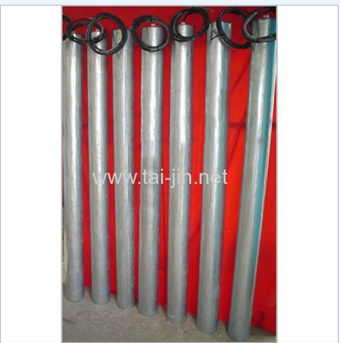 MMO Titanium canistered anode for protection of storage tanks