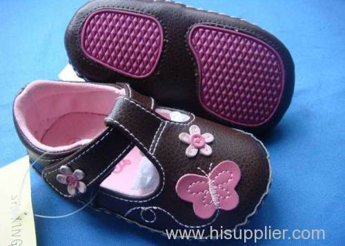 SXG003 children shoes purple baby shoes kid shoes Genuine leather shoes