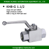 "dn40 full port bsp1.1/2"" hydraulic pressure stainless / steel ball valve 5000psi"
