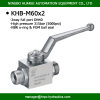 dn40 high pressure 2 way hydraulic full bore steel ball valve wog 5000psi