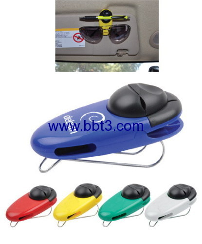 Promotional car sunglasses holder with ballpen holder