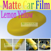 Matte Yellow Car Wrapping Film With Air Free Bubbles