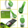 Green beats studio headphone by dr dre for iphone with new packing box