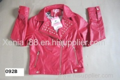 Ladies' pu jacket in stock