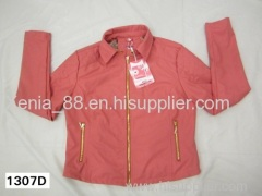 woman's pu jacket with fashio style fo for stock